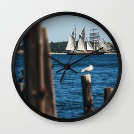 Tall Ship Gulden Leeuw Wall Clock