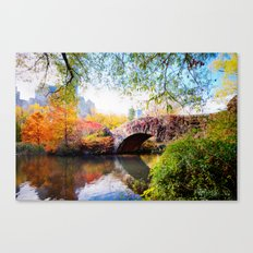 Last Autumn in Central Park Canvas Print