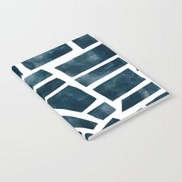 abtract indigo tile pattern Notebook