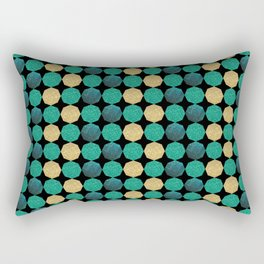 Glitzy Greens Rectangular Pillow