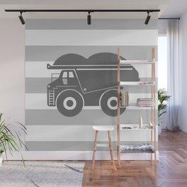 Gray Dump Truck Wall Mural