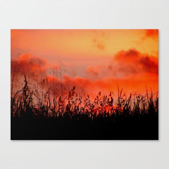 Rainbow Sundown Canvas Print