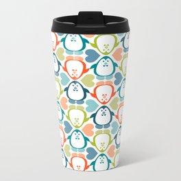 NGWINI - penguin love pattern 5 Metal Travel Mug