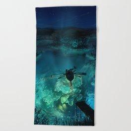 The Universe Below Beach Towel