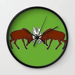 Deer fighting Wall Clock