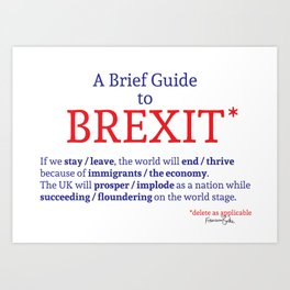 A Brief Guide to Brexit Art Print