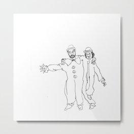 Clown Parents Metal Print