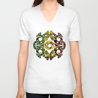 maori V-neck T-shirts featuring Rasta Colors on Maori Patterns by Lonica Photography & Poly Designs