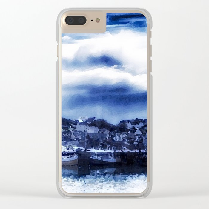 Fishing Village Clear iPhone Case