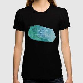 Moxie Definition - Blue Watercolor T-shirt