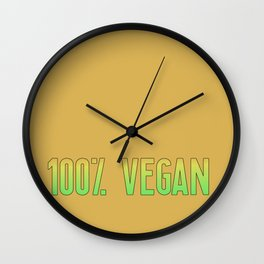 100% Vegan | Gift Idea Wall Clock