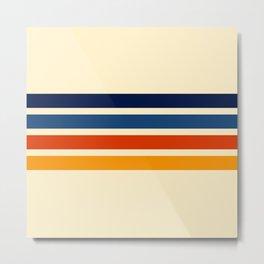 Katahide - Classic Retro Stripes Metal Print