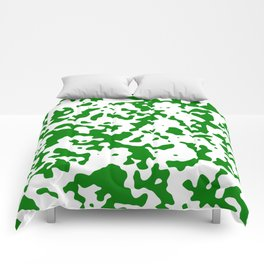 Spots - White and Green Comforters