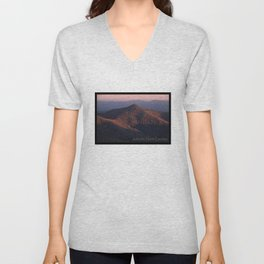 Pilot Mountain from the Blue Ridge Parkway Unisex V-Neck