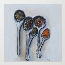 Spoons & Spices Canvas Print