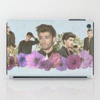 zayn malik iPad Cases featuring Zayn Malik + Flowers 2 by Ladsandstuff