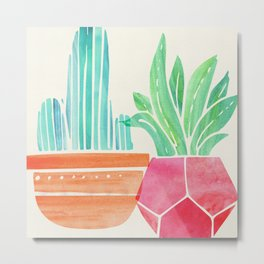 Dynamic Duo - Bright Tropicals Metal Print