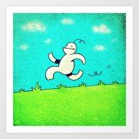 running Art Prints featuring Running... by MaComiX