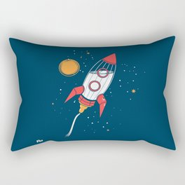 Bottle Rocket to the Milky Way Rectangular Pillow
