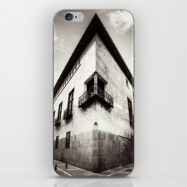 The oblique building iPhone Skin