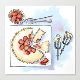 Strawberry Cheesecake Tart Canvas Print