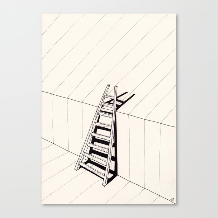 there's no way out of here Canvas Print