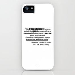 DC v Heller Second Amendment Case Law iPhone Case