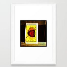 El Corazon/The Heart ;Loteria Framed Art Print