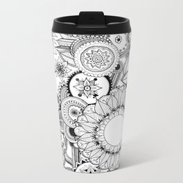 Floral Kaleidoscope  Metal Travel Mug