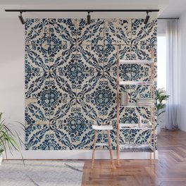 Azulejo IX - Portuguese hand painted tiles Wall Mural
