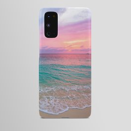 Aerial Photography Beautiful: Turquoise Sunset Relaxing, Peaceful, Coastal Seashore Android Case