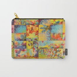 COLORFUL INDECISION 1 - Bold Bright Beautiful Abstract Acrylic Painting Collection Nature Rainbow Carry-All Pouch