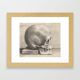 Skull in Profile to Right by Leonardo Da Vinci Framed Art Print