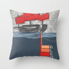 Bless Ship Throw Pillow