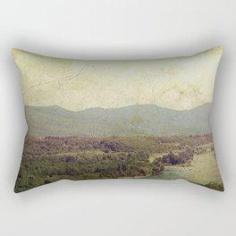 Vintage river landscape and mountain Rectangular Pillow
