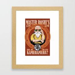 Master Roshi's Gym, Bro, Do You Even Kamehameha Framed Art Print