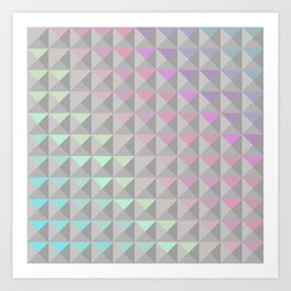 Silver Xs Art Print