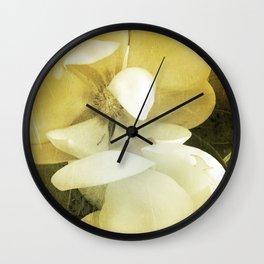 Vintage Magnolias Wall Clock