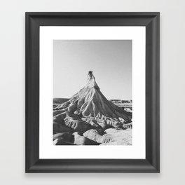 BADLANDS / Spain Framed Art Print