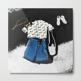 Casual Hipster Outfit Metal Print