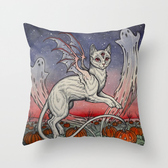Spirits Of All Hallows Eve Throw Pillow