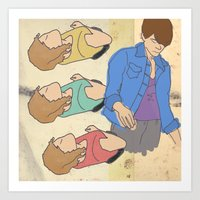 tegan and sara Art Prints featuring Tegan & Sara by M. Duwel