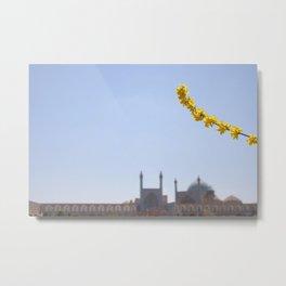 Mosque in Isfahan Iran Metal Print