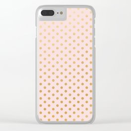 Blush pink and faux gold foil dots Clear iPhone Case