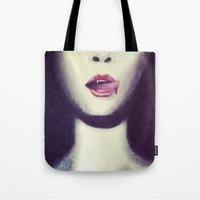 true blood Tote Bags featuring Blood by Kayleigh Kirkpatrick