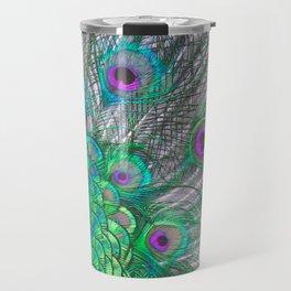 Psychedelic Peacock Travel Mug