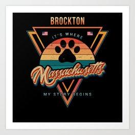 Brockton Massachusetts Art Print