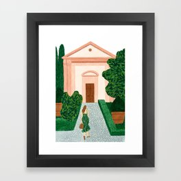 Garden Walk Framed Art Print