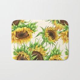 Sunflower Bouquet Bath Mat