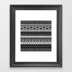 Tribal Monochrome. Framed Art Print